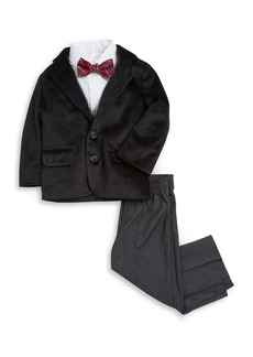 Nautica Little Boy's Four-Piece Velvet Jacket, Shirt, Tie and Pants Suit Set