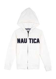 Nautica Boy's Little Full Zip Classic Logo Fleece Hoodie