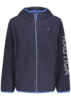Nautica Little Boys Full Zip Hooded Logo Jacket