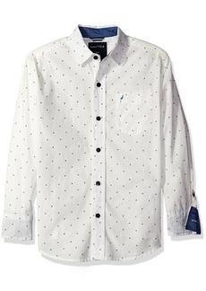 Nautica Little Boys Mini Allover Print Long Sleeve Woven Shirt  /7