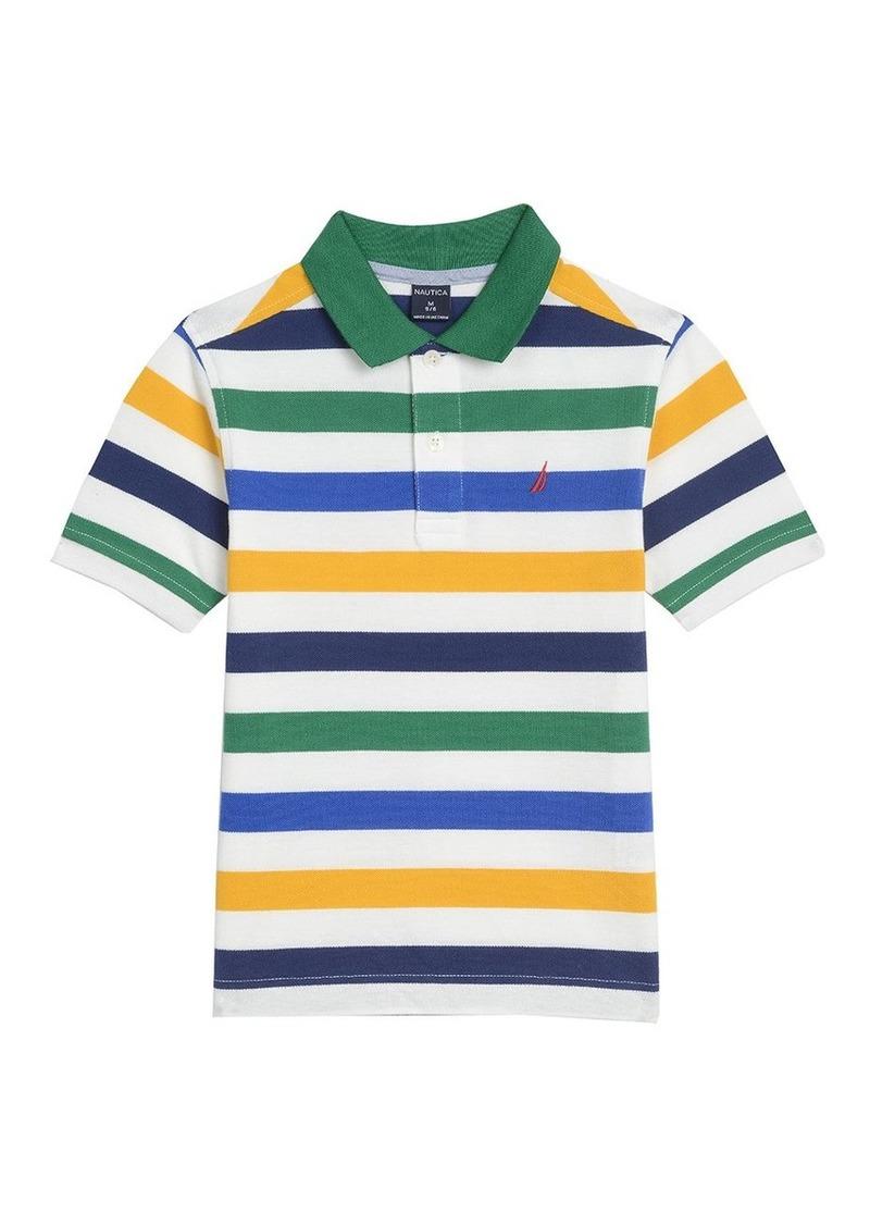 Nautica Childrens Apparel Little Boys Short Sleeve Colorblock Tee Shirt