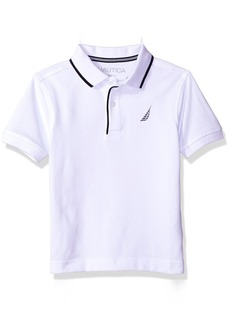 Nautica Little Boys' Short Sleeve Solid Deck Polo With Tipped Collar   (7)