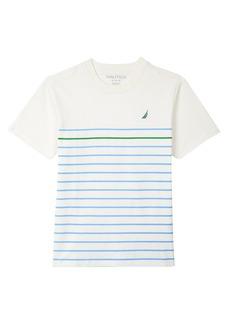 Nautica Little Boys' Short Sleeve Mini Stripe Crewneck Tee