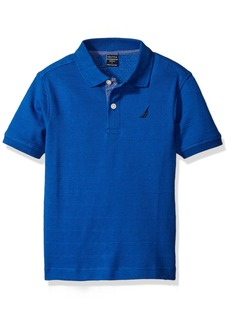 Nautica Boys' Short Sleeve Tonal Stripe Deck Polo Shirt MED BLUE