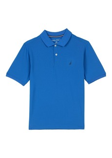 Nautica Boys' Little Short Sleeve Solid Performance Polo Shirt Dark Turquoise