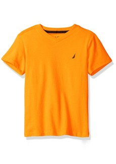 Nautica Little Boys' Short Sleeve Solid V-Neck Tee  M(5/6)