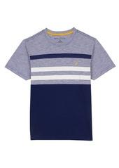 Nautica Little Boys' Short Sleeve Stripe and Solid Crewneck Tee  7x