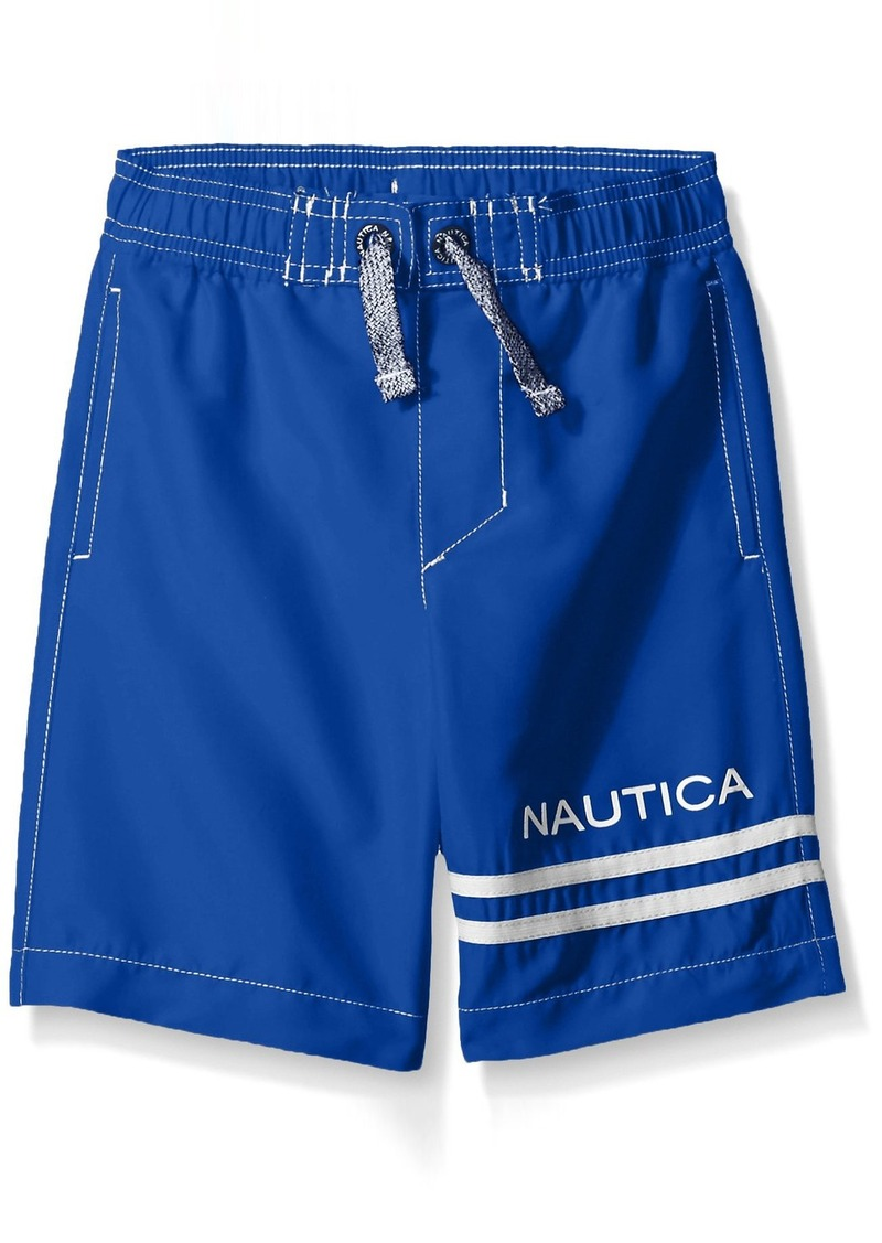 f107388c28 Nautica Nautica Little Boys' Swim Trunk with Upf 50+ Sun Protection ...