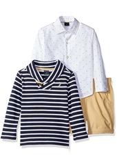 Nautica Little Boys' Toddler Button Down Shirt SweaterAnd Shorts Three Piece Set  2T