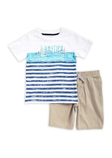 Nautica Little Boy's Two-Piece Nautica Cotton Tee and Shorts Set