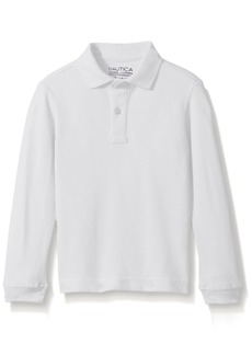 Nautica Little Boys' Uniform Long Sleeve Pique Polo  Large/6