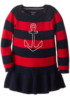 Nautica Little Girls' Anchor Sweater Dress