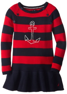 Nautica Little Girls' Anchor Sweater Dress 2