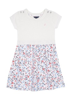 Nautica Little Girls' Combination Dress with Sweater Top