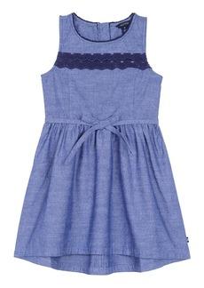 Nautica Little Girls' Dress with Lace Trim