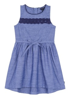 Nautica Girls' Little  Dress with Lace Trim