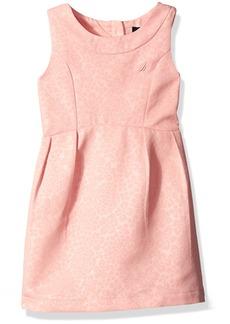 Nautica Little Girls' Toddler Embossed Woven Pique Dress