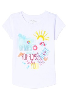 Nautica Little Girls' Fashion Silhouette Graphic Tee Shirt