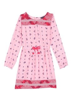 Nautica Little Girls' Floral Print Woven Peasant Dress