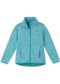 Nautica Little Girls Heathered Polar Fleece Jacket