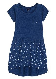 Nautica Little Girls' Indigo Knit Babydoll Dress