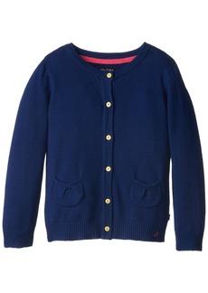 Nautica Little Girls' Jersey Cardigan Sweater with Pockets  6X