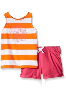 Nautica Little Girls' Knit Top Paired with Short Set