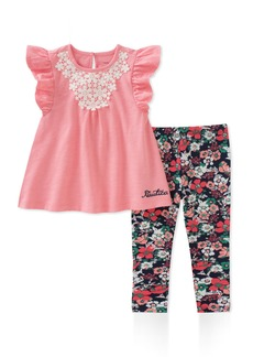 Nautica Girls' Little Leggings Set Pink/Print