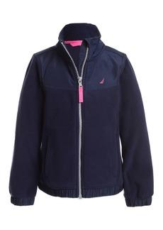 Nautica Little Girls Mock-Neck Polar Fleece Zip-Up Jacket
