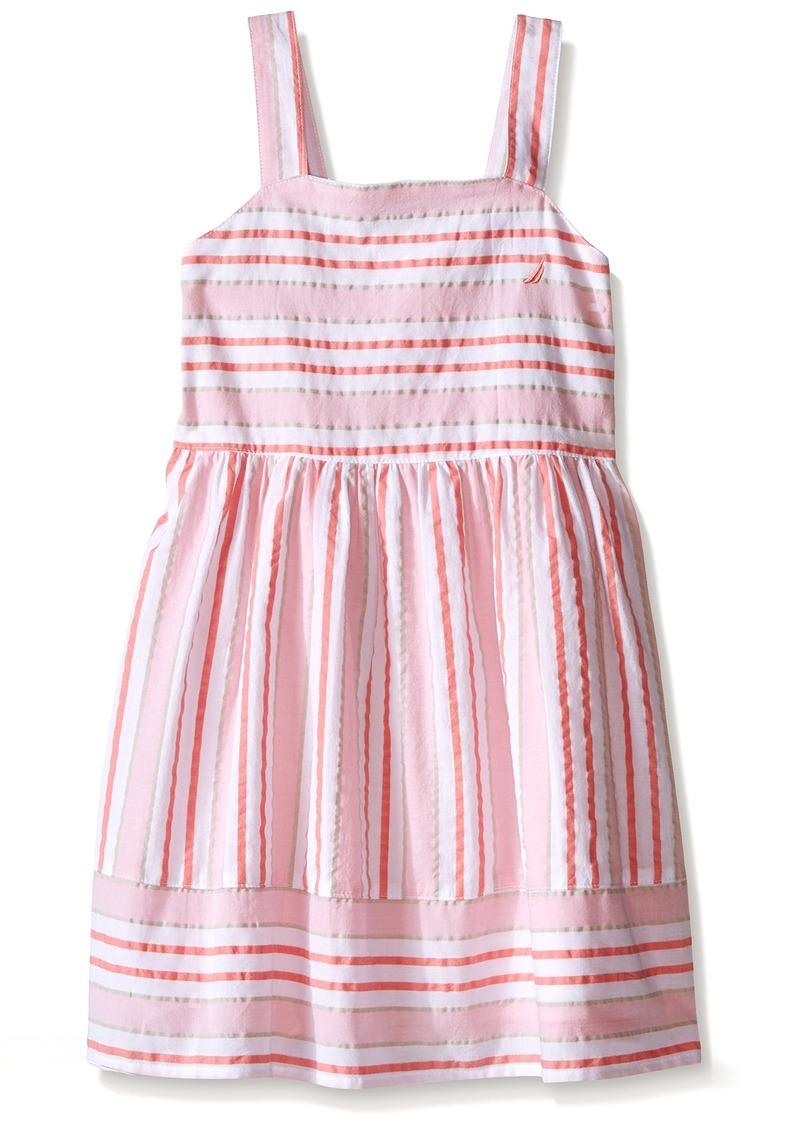 Nautica Little Girls' Multi Stripe Seersucker Dress