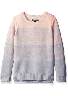 Nautica Little Girls Ombre Stripe Sweater Pale Pink