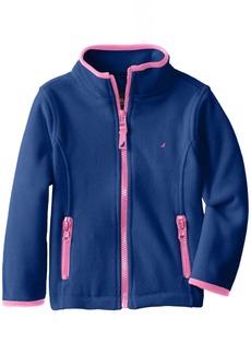 Nautica Little Girls' Polar Fleece Front Zip Jacket