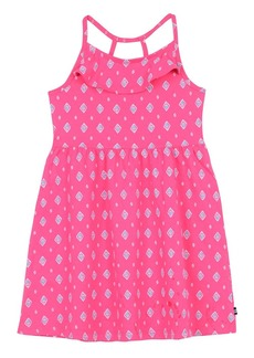 Nautica Little Girls' Printed Knit Dress with Flounce