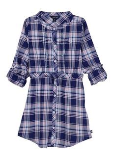 Nautica Little Girls' Rayon Plaid Shirtdress