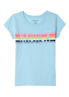 Nautica Girls' Little Short Sleeve Graphic Tee