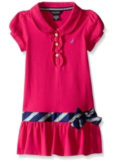 Nautica Little Girls Solid Pique Polo Dress