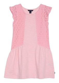Nautica Little Girls' Stripe Slub Jersey Dress