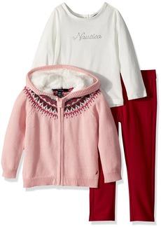 Nautica Little Girls' Three Piece Sweater Sets
