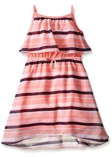 Nautica Little Girls' Tiered Chiffon Stripe Dress
