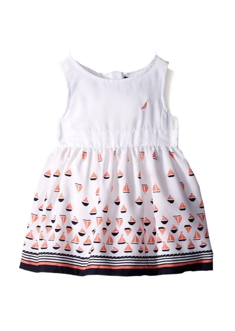 Nautica Little Girls' Toddler Border Sail Print Dress