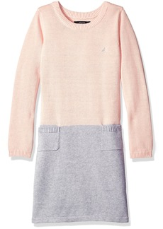 Nautica Little Girls' Toddler Colorblock Sweater Dress