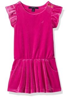 Nautica Little Girls' Velour Dropwaist Dress