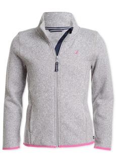 Nautica Little Girls Zip-Up Sweater
