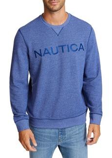 Nautica Logo Crewneck French Terry Pullover