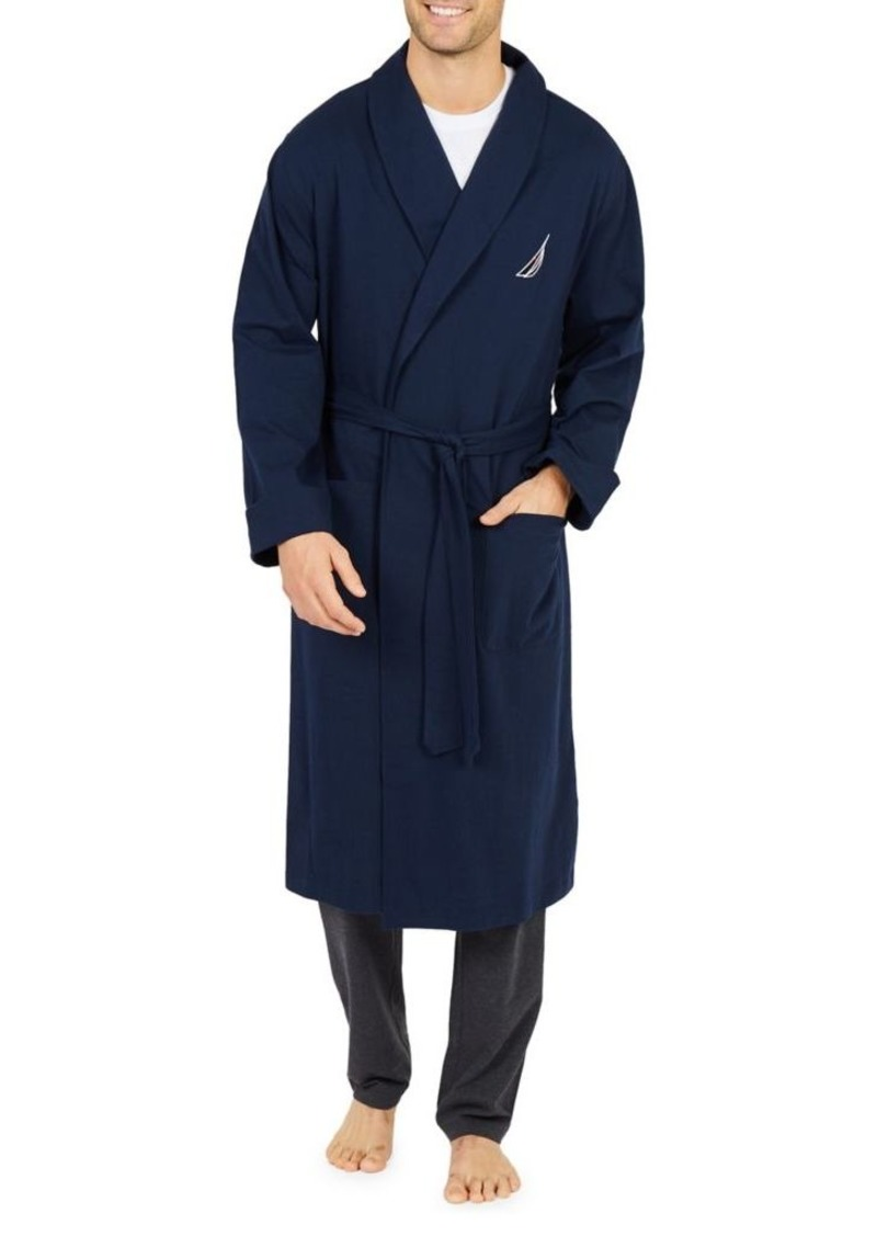 Nautica Logo Shawl Collar Robe