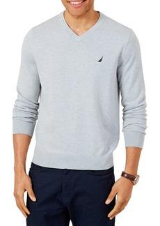 Nautica Logo V-Neck Sweater