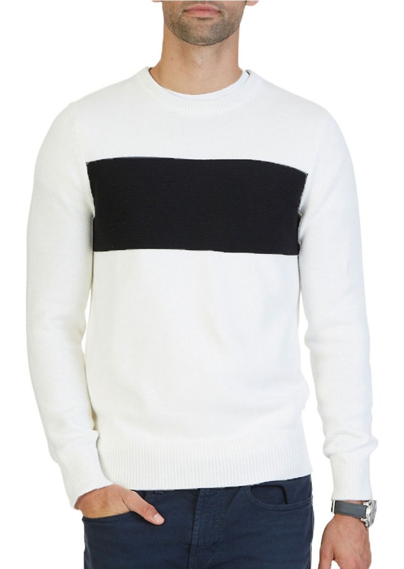 NAUTICA Long Sleeve Chest Stripe Pullover