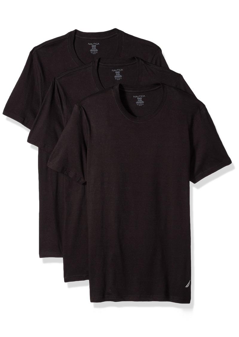 2112d4e0b1b0 SALE! Nautica Nautica Men's Cotton T-Shirt-Multi Pack Crew Neck ...