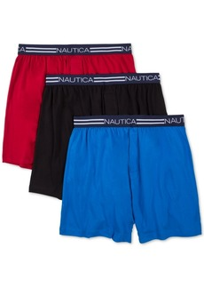 Nautica Men's 3-Pk. Cotton Knit Boxers
