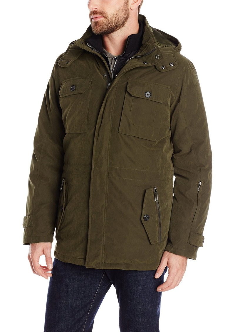 Nautica Men's 31 Inch Brushed Biblend Systems Jacket